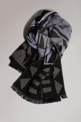 Topshop monochrome woven blanket scarf £22