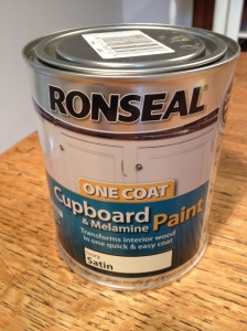 Not really one coat cupboard paint
