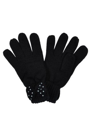 New Look black pearl bow goves £4.99