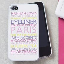 Not on the High Street personalised iPhone case £25
