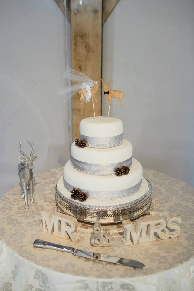 rustic winter wedding cake for winter wedding