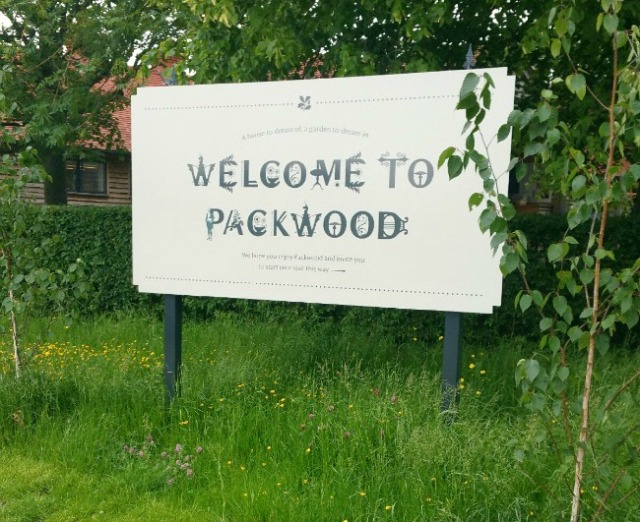 Packwood House entrance sign